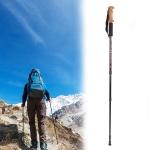 Aotu AT7551 135cm Aluminum Alloy Outdoor Camping Corky Trekking Poles (Black)