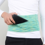 Personal Large-capacity Stretch Tablet Pockets Travel Anti-theft Bag Phone Bag L Section(Green)