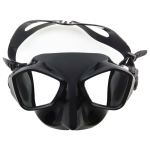 DM700 Silica Gel Diving Mask Swimming Goggles Diving Equipment for Adults (Black)