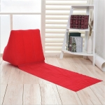 Outdoor Beach PVC Thick Flocked Beach Mat Inflatable Triangle Pad, Size:  150x38x46cm (Red)