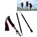5 Node Portable Foldable Aluminium Alloy Alpenstocks Trekking Poles, Folding Length : 28.5CM (Black)