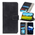 Crocodile Texture Horizontal Flip Leather Case for OPPO Realme 3, with Holder & Wallet & Card Slots & Photo Frame (Black)