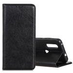 Magnetic Crazy Horse Texture Horizontal Flip Leather Case for OPPO Realme 3, with Holder & Card Slots & Wallet (Black)