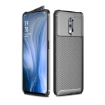 Carbon Fiber Texture Shockproof TPU Case for OPPO Reno (Black)
