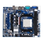 Intel nVIDIA NC61 DDR2 / DDR3 Computer Motherboard Integrated Sound Card Graphics Card Network Card