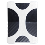 X Type 2.5 inch Portable Hard Drive Silicone Case for 2TB-4TB WD & SEAGATE & Toshiba Portable Hard Drive, without Hole (White)