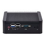 Fanless Mini Industrial Control PC with 4 USB Ports & RS-232 COM Port, 8GB, Intel Celeron J1900 2.0GHz Quard Core, Support Bluetooth 4.0 & 2.4G / 5.0G Dual-band WiFi(Black)