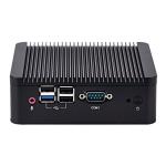 Fanless Mini Industrial Control PC with 4 USB Ports & RS-232 COM Port, 8GB, Intel Celeron J1900 2.0GHz Quard Core, Support Bluetooth 4.0 & 2.4G / 5.0G Dual-band WiFi(Black)