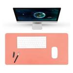 BUBM Multifunction Super Large Non-slip PU Leather Double-sided Mouse Pad Office Desk Mat, Size: 60 x 30cm(Orange)