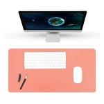 BUBM Multifunction Super Large Non-slip PU Leather Double-sided Mouse Pad Office Desk Mat, Size: 90 x 45cm(Orange)