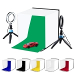 PULUZ 30cm Photo Softbox Portable Folding Studio Shooting Tent Box Kits with 5 Colors Backdrops (Red, Green, Yellow, Blue, White, Black), Size: 30cm x 30cm x 30cm