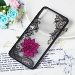 Small Lotus Pattern Embossed Lace + PC Case for Galaxy A7 (2018)