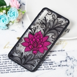 Big Lotus Pattern Embossed Lace + PC Case for Galaxy A7 (2018)