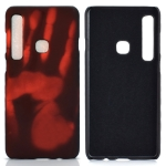 Paste Skin + PC Thermal Sensor Discoloration Case for Galaxy A9 (2018)(Red)