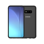 LOVE MEI Shockproof Metal Frame+TPU+Back Tempered Glass Case for Galaxy S10e(Black)