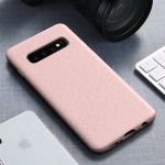 Starry Series Shockproof  Straw Material + TPU Protective Case for Galaxy S10 (Pink)
