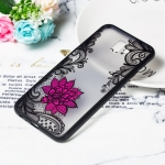 Small Lotus Pattern Embossed Lace + PC Case for Galaxy J4 Prime