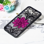 Big Lotus Pattern Embossed Lace + PC Case for Galaxy J6 Prime