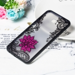 Small Lotus Pattern Embossed Lace + PC Case for Galaxy J6 Prime