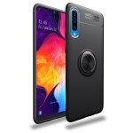 Lenuo Shockproof TPU Case for Galaxy A50, with Invisible Holder (Black)
