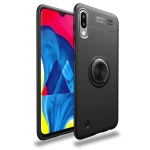 Lenuo Shockproof TPU Case for Galaxy M10, with Invisible Holder (Black)
