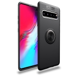 Lenuo Shockproof TPU Case for Galaxy S10 5G, with Invisible Holder (Black)