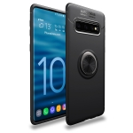Lenuo Shockproof TPU Case for Galaxy S10+, with Invisible Holder (Black)