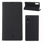 ViLi Texture PU Leather Case for Galaxy A70 ,with Holder & Card Slots & Wallet (Black)