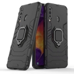 PC + TPU Shockproof Protective Case for Galaxy A60, with Magnetic Ring Holder (Black)
