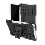 Tire Texture TPU+PC Shockproof Case for Galaxy Tab S5e , with Holder (White)