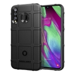 Shockproof Protector Cover Full Coverage Silicone Case for Galaxy A40s (Black)