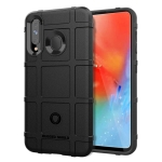 Shockproof Protector Cover Full Coverage Silicone Case for Galaxy A60 (Black)