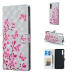Butterfly Love Flower Pattern 3D Horizontal Flip Leather Case for Galaxy A70, with Holder & Card Slots & Photo Frame & Wallet