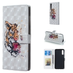 Tiger Pattern 3D Horizontal Flip Leather Case for Galaxy A70, with Holder & Card Slots & Photo Frame & Wallet