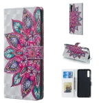 Half Flower Pattern 3D Horizontal Flip Leather Case for Galaxy A70, with Holder & Card Slots & Photo Frame & Wallet