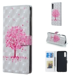 Pink Tree Pattern 3D Horizontal Flip Leather Case for Galaxy A70, with Holder & Card Slots & Photo Frame & Wallet