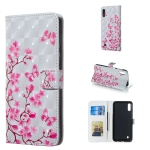 Butterfly Love Flower Pattern 3D Horizontal Flip Leather Case for Galaxy M10, with Holder & Card Slots & Photo Frame & Wallet