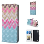 Color Wave 3D Pattern Horizontal Flip Leather Case for Galaxy M10, with Holder & Card Slots & Photo Frame & Wallet