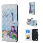Tower Pattern 3D Horizontal Flip Leather Case for Galaxy M10, with Holder & Card Slots & Photo Frame & Wallet