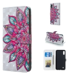 Half Flower Pattern 3D Horizontal Flip Leather Case for Galaxy M10, with Holder & Card Slots & Photo Frame & Wallet