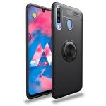 lenuo Shockproof TPU Case for Galaxy M30, with Invisible Holder (Black)