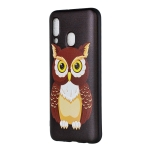 Embossed Painted Owl Pattern TPU Case for Galaxy A40