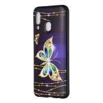 Embossed Painted Big Butterfly Pattern TPU Case for Galaxy A40