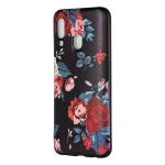 Embossed Painted Red Flower Pattern TPU Case for Galaxy A40