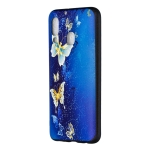 Embossed Painted Golden Butterfly Pattern TPU Case for Galaxy A40
