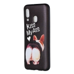Embossed Painted Kiss My Ass Pattern TPU Case for Galaxy A40
