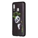 Embossed Painted Panda and Bamboo Pattern TPU Case for Galaxy A40