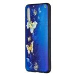Embossed Painted Golden Butterfly Pattern TPU Case for Galaxy A70