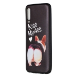 Embossed Painted Kiss My Ass Pattern TPU Case for Galaxy A70