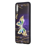 Embossed Painted Big Butterfly Pattern TPU Case for Galaxy A70